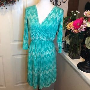 Pixley Brand Cute Turquoise Long Sleeves Dress